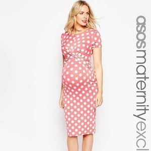 ASOS pink polka dot  Maternity